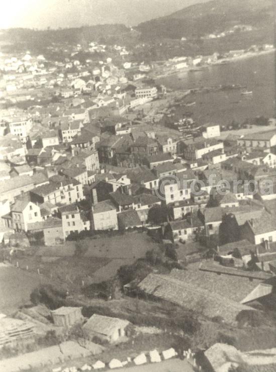 1955 aprox. Vista Santa Uxía de Riveira
