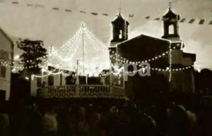 1959 Santa Uxía de Riveira palco da musica nas festas de verán.