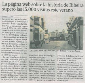 La Voz de Galicia, 20150822